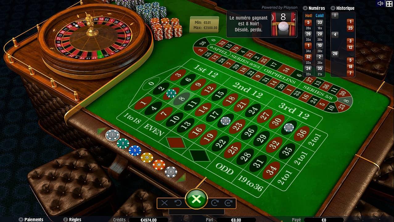 avantages roulette en ligne
